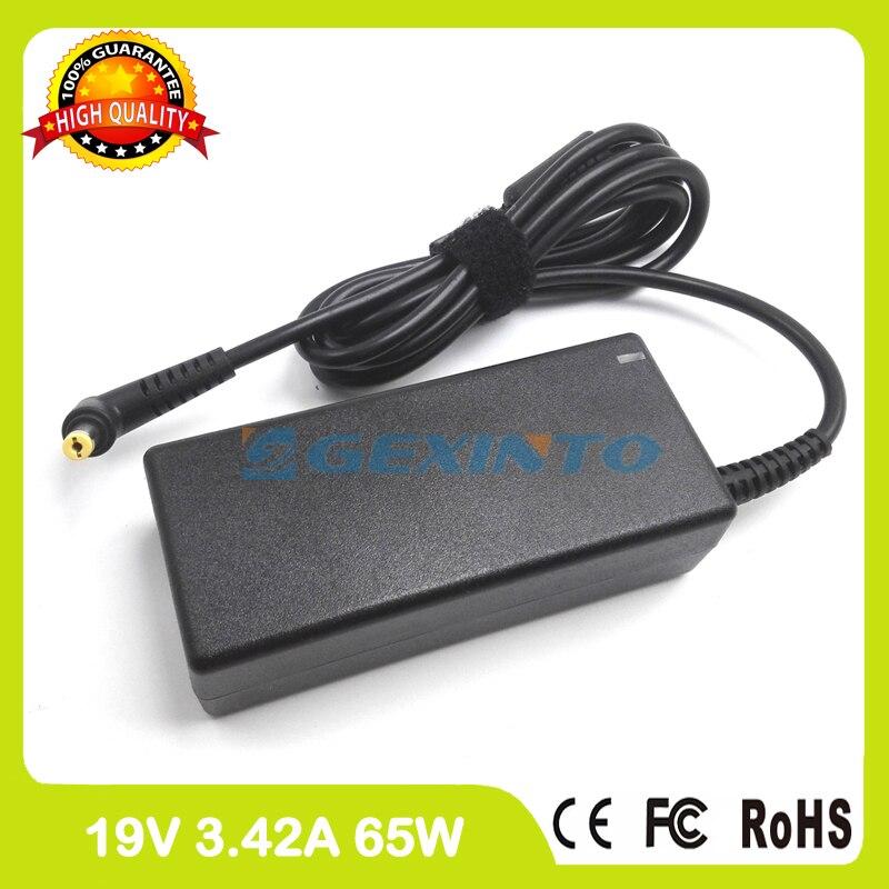 19V 3.42A 65W chargeur pour ordinateur portable adaptateur secteur pour Acer Aspire Revo AR1600 R1600 R3600 R3610 R3700