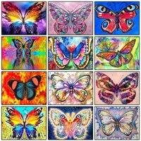 Peinture diamant theme papillon  broderie complete 5D  perles carrees ou rondes  image danimaux  strass  mosaique  Art deco dinterieur  a faire soi-meme