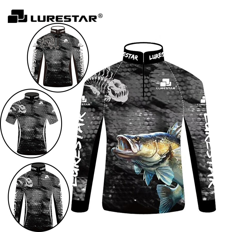 Summer Mens Fishing Clothes Sunscreen Breathable Quick Dry Long Short Sleeve Fishing T Shirt Outdoor Sea Clothing UV Jersey Men