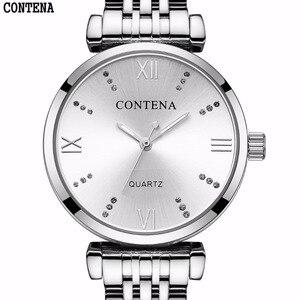 Ceshi22 331New ультра-тонкие женские часы 2017 Топ бренд класса люкс из нержавеющей стали Кварцевые водонепроницаемые наручные часы для