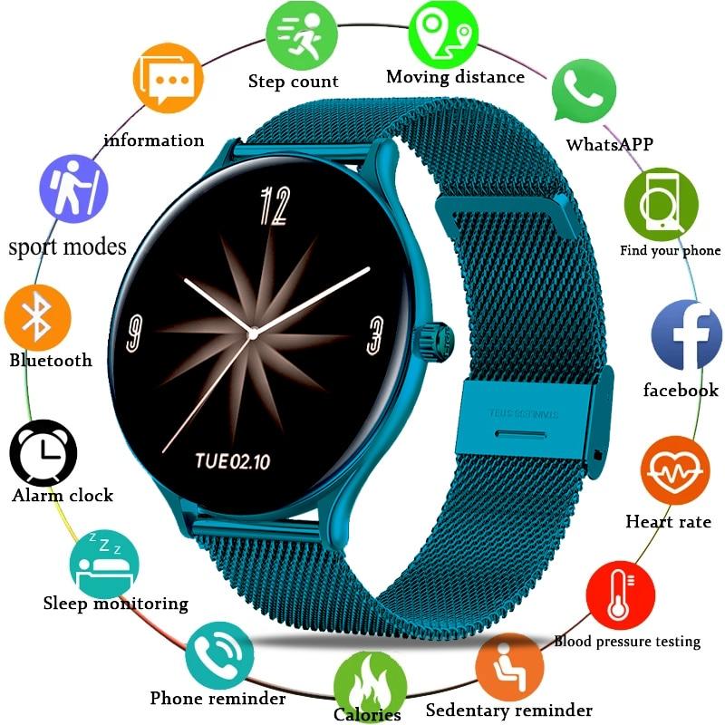 LIGE جديد ساعة ذكية معدل ضربات القلب ساعة ضغط الدم IP67 مقاوم للماء ساعة رياضية جهاز تعقب للياقة البدنية ل Ios أندرويد ساعة ذكية