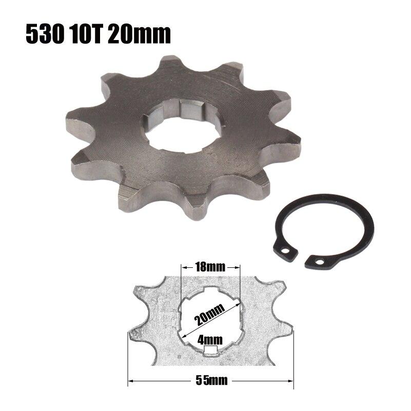Piñón de motor delantero Star 530 10T 20mm para 530, cadena con armario, motocicleta, moto de cross, PitBike ATV Quad piezas
