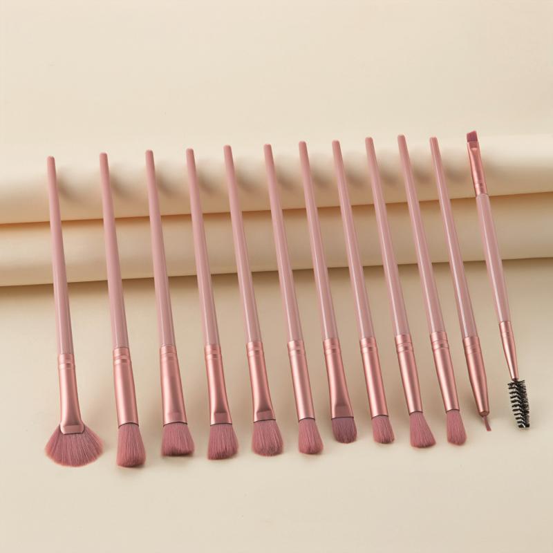 12pcs/set Makeup Brush Eye Shadow Brush Fan-shaped Lip Eyebrow Makeup Brush Set недорого