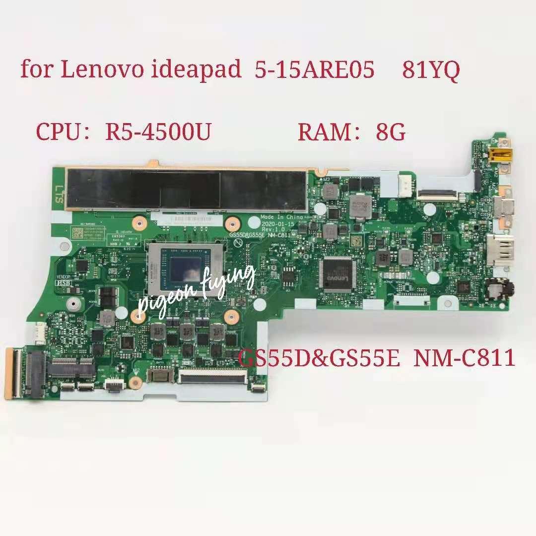 GS55D & GS55E NM-C811 لينوفو ايديا باد 5-15ARE05 اللوحة الأم وحدة المعالجة المركزية: R5-4500U UMA ذاكرة الوصول العشوائي: 8G 100% اختبار Ok