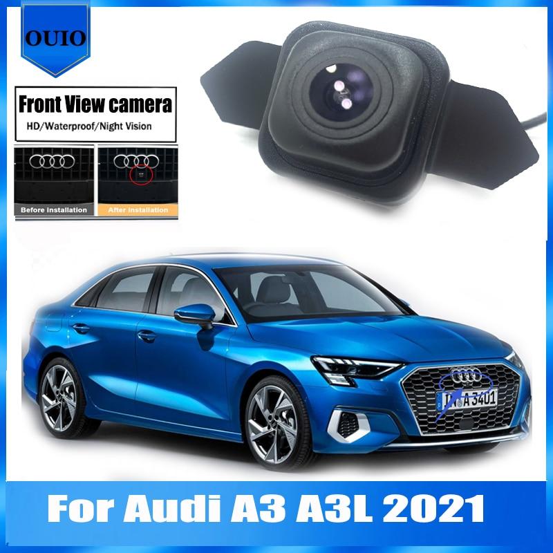 HD Автомобильная Камера Переднего Вида   Для Audi A3 A3L 2021 Ночное видение/водонепроницаемый Фронтальная камера/парковка логотип Фронтальная кам...