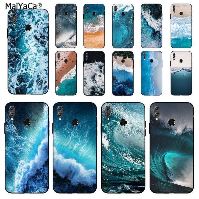 MaiYaCa Blue sea spindrift Soft black Phone Case for Huawei Honor 8 x 9 10 20 V 30 pro 10 20 lite 7A 9lite case