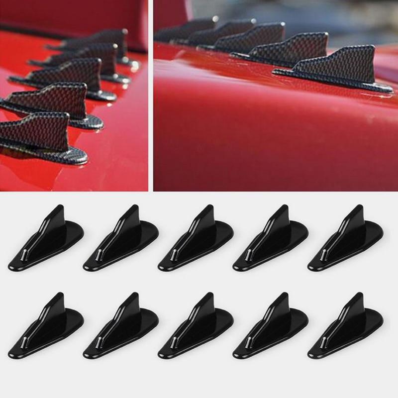 10 * universal evo-estilo pp telhado tubarão aletas spoiler asa kit vortex gerador elegante evo estilo revestimentos resistentes ao tempo