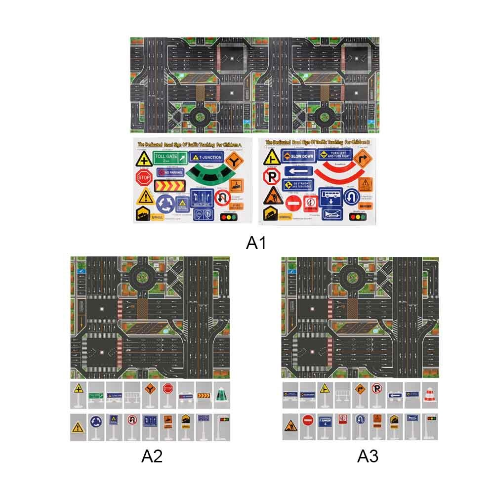 Mapa de coches ciudad estacionamiento Mapa de ruta juguete modelo esteras regalos 130X100cm