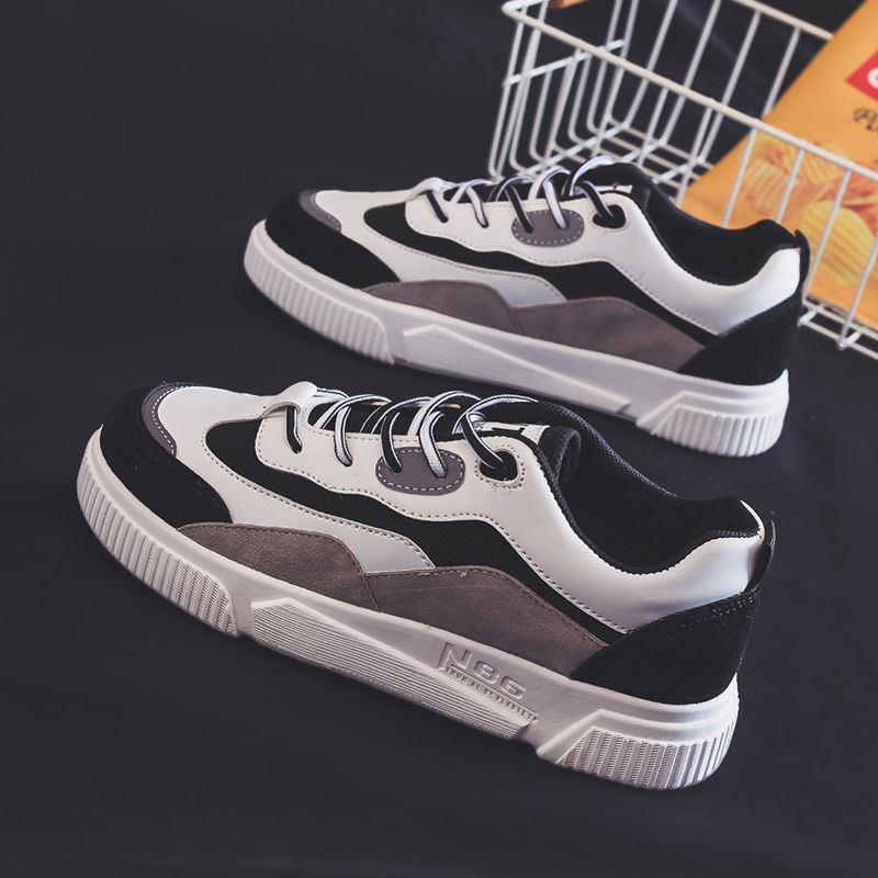 2021 Spring And Autumn New Fashion Versatile Splicing Boys Sneakers Non-slip Precision Stitching Lovers Shoes Comfort Man Vulcan