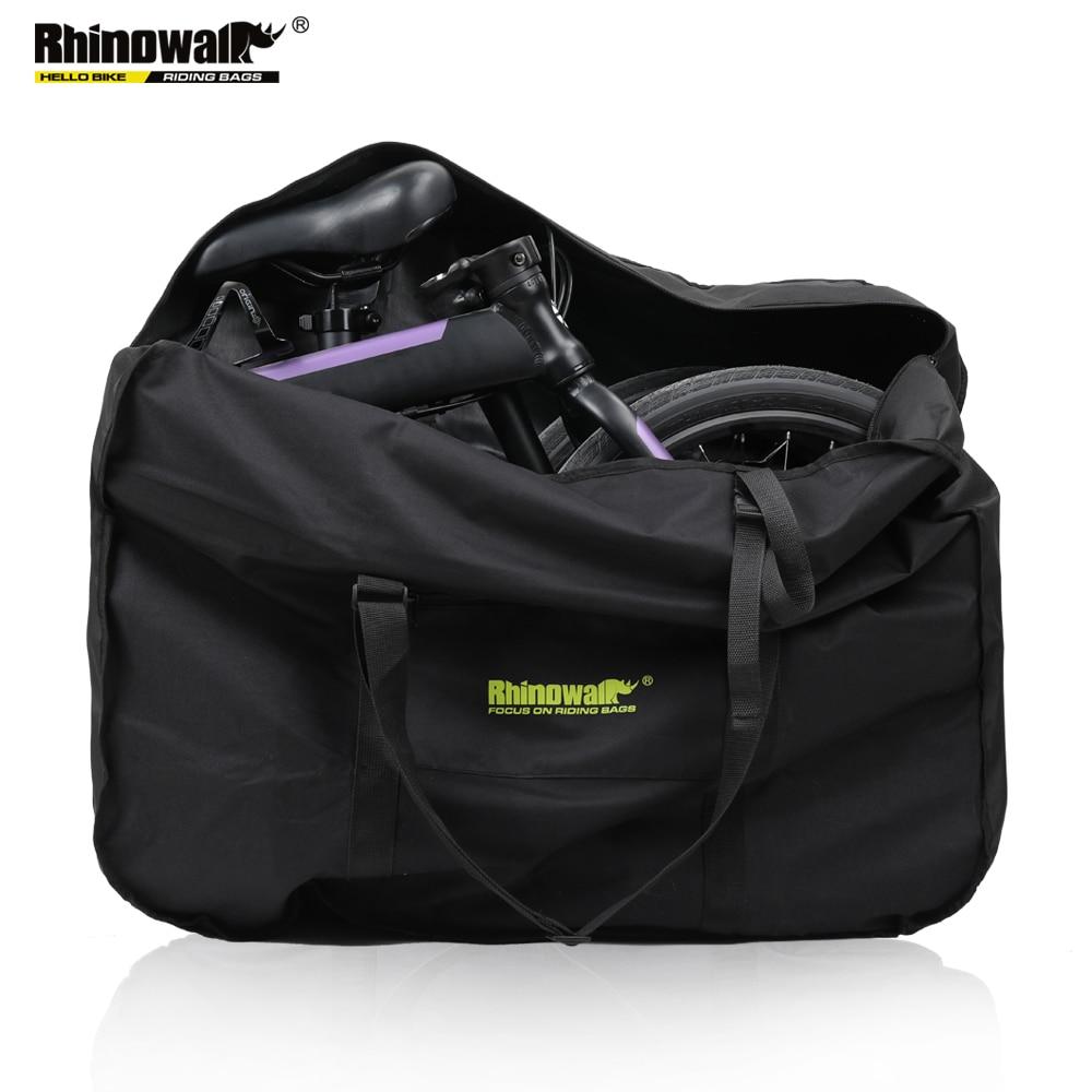 Rhinowalk 16-20 Inch Folding Bike Carry Bag Portable Bicycle Carry Bag Cycling Bike Transport Case Travel Bicycle Storage Bag