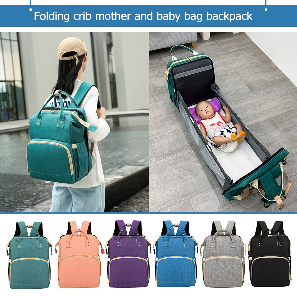 Mommy Baby Diaper Bag Multifunction Folding Baby Mom Travel Backpack Large Capacity Nappy Maternity Care Women Bag Nursing Bags недорого