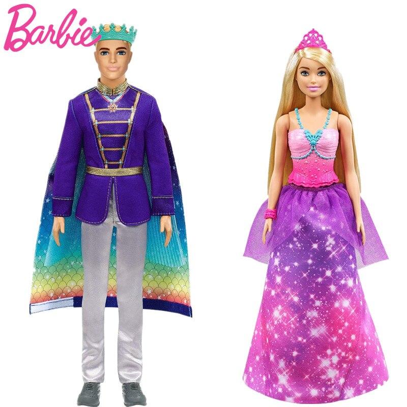 Muñeca de transformación 2 en 1 de Barbie Dreamtopia, transformable de princesa...