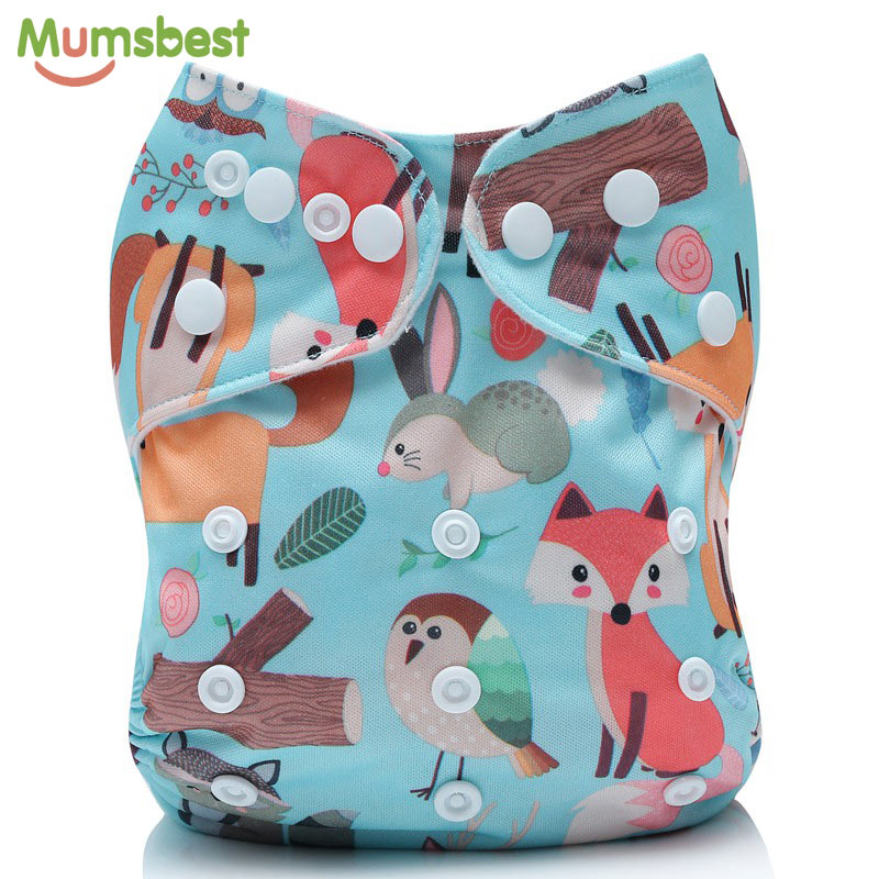 [Mumsbest] 50PCS Baby Cloth Diaper Cover Adjustable Cloth Nappy Washable Quick Drying Reusable Nappies Ecological Diaper 3-15KG