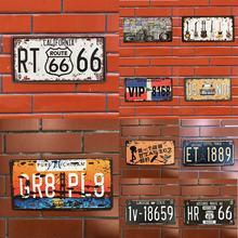 Plaque en métal numéro de voiture   Plaque du groupe de bière, signe de numéro de voiture, panneau en étain Bar Pub café accueil décor panneau en métal, plaque de peinture de Garage, vente 1 pièce