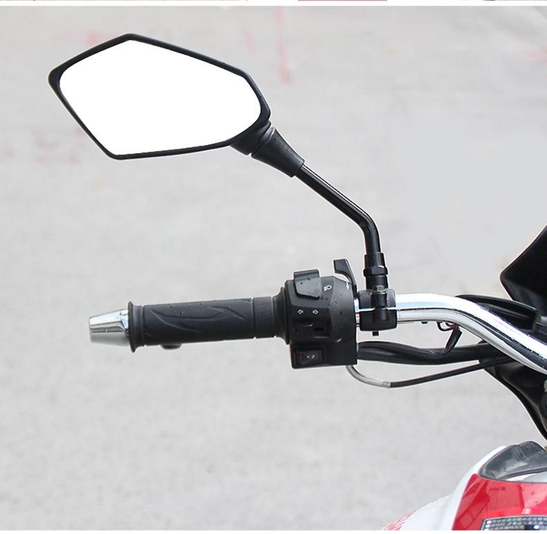 Motorcycle Mirror 8 10MM Retrovisor Moto Accessories For honda cb500 honda cbr600f4i yamaha xt1200z super tenere suzuki gladius