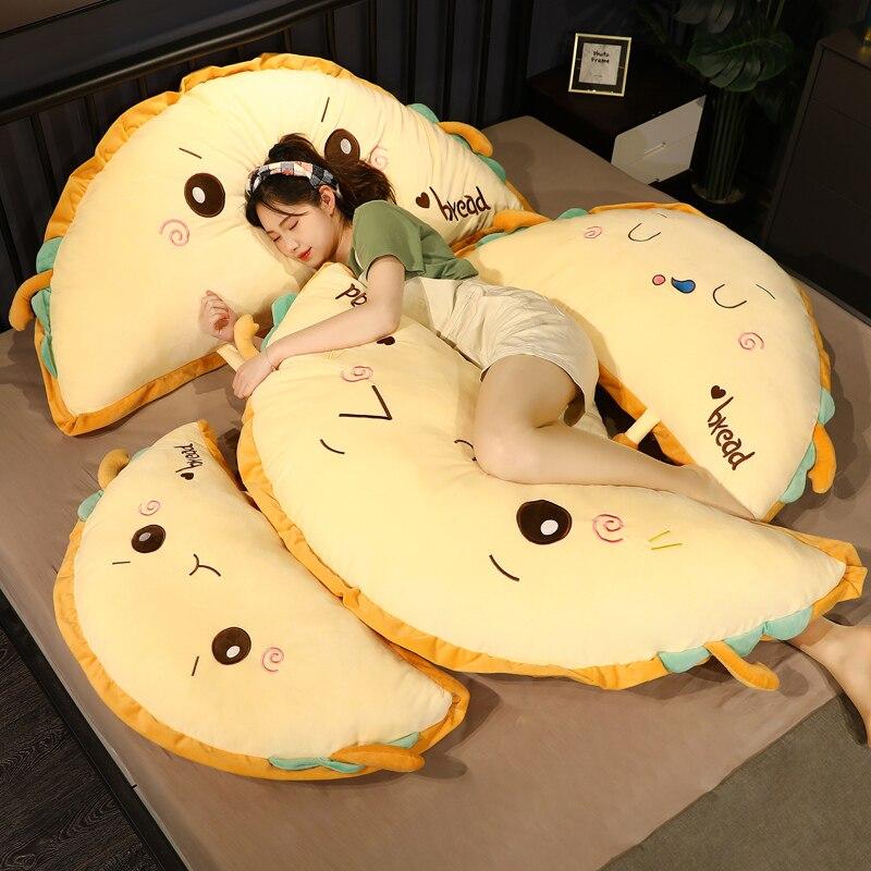 محاكاة الغذاء الخبز كعكة ألعاب من نسيج مخملي لطيف محشوة دمية لينة زلابية قيلولة وسادة نوم أريكة سرير وسادة الإبداعية هدية عيد ميلاد