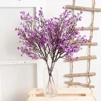 1 branch silk gypsophila artificial flowers home decor fake flowers long bouquet wedding party decoration accessories