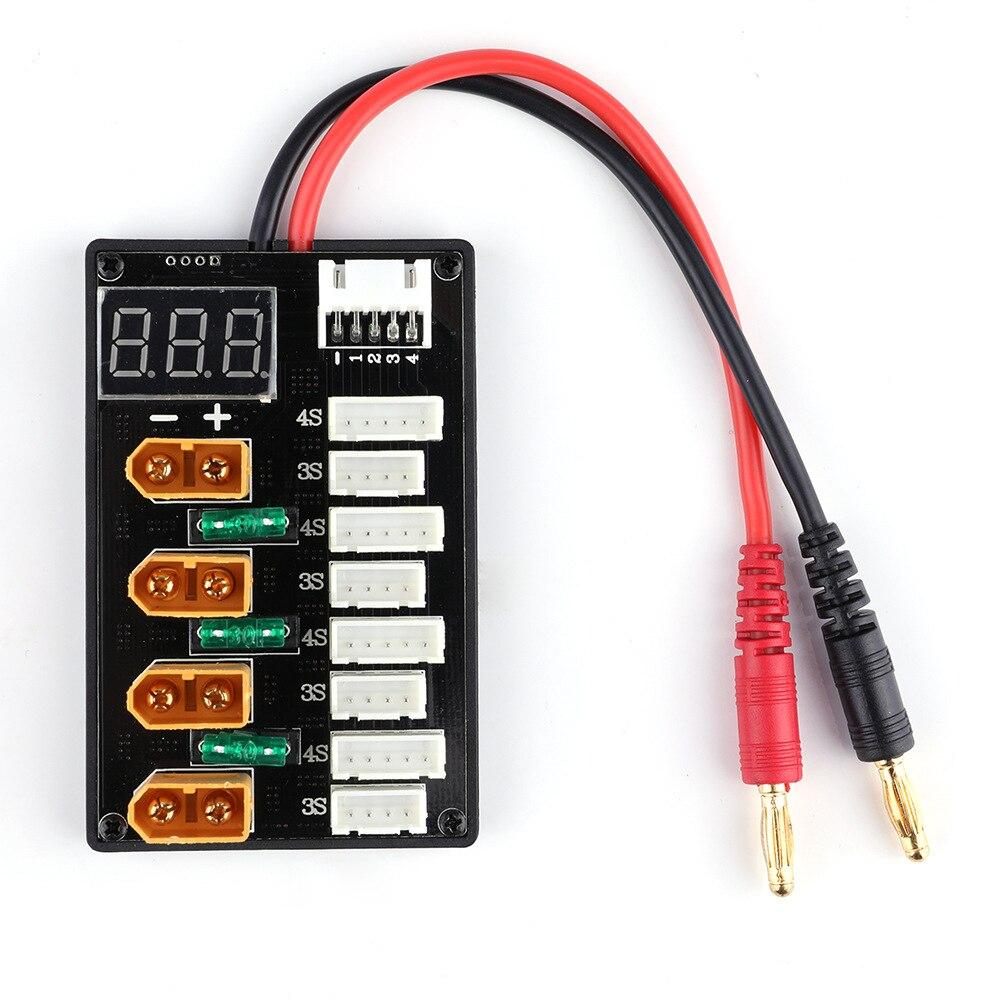 XT60 podłącz 3S 4S bateria Lipo wersja do aktualizacji równolegle płytka ładująca dla IMAX B6 zabawka do utrzymywania równowagi z ładowarką ISDT Q6