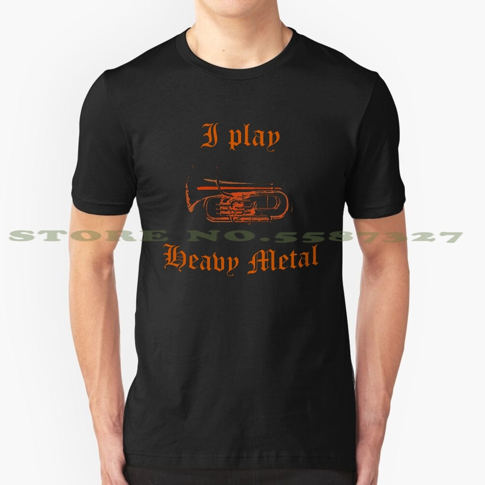 Juego de Metal pesado personalizado gráfico divertido gran oferta camiseta de latón Tuba instrumento Musical instrumento de Metal pesado de música Musical