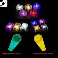 led building blocks light induction remote control multi color city scene accessories round light emitting toy gift for children