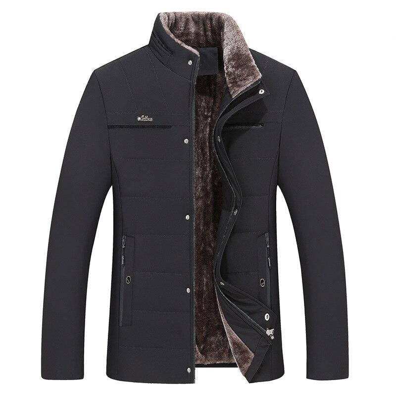 Мужская зимняя модная куртка для джентльменов, Теплая стеганая куртка, бархатная стеганая куртка, Мужская стеганая куртка большого размера