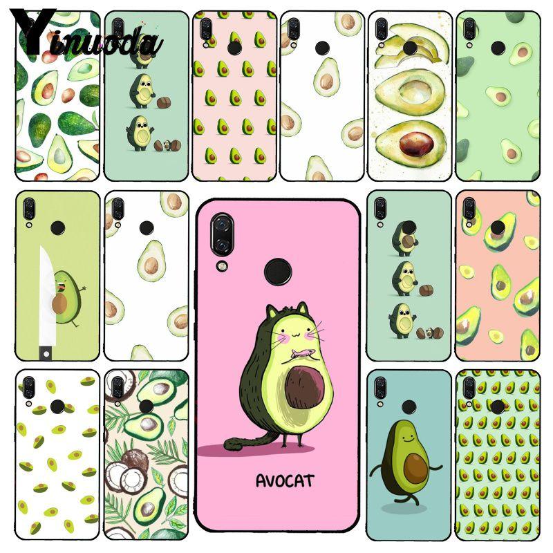 Yinuoda avocado aesthetic Gteen Fruit Food Phone Case for Xiaomi Redmi Note 7 8T Redmi 5plus 6A Note8 4X Note8Pro