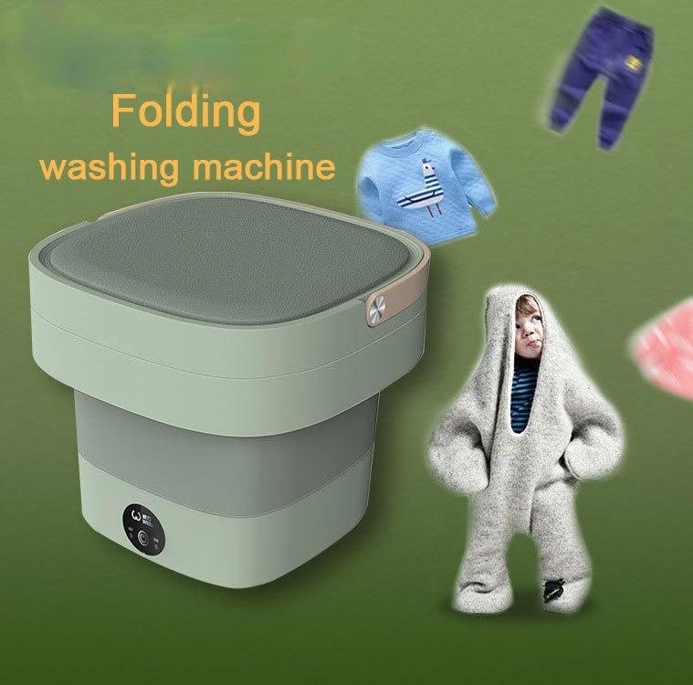 Portable Foldable Electric Washing Machine Mini Folding Automatic Clothes Washing Machine Underwear Washer camper trailer