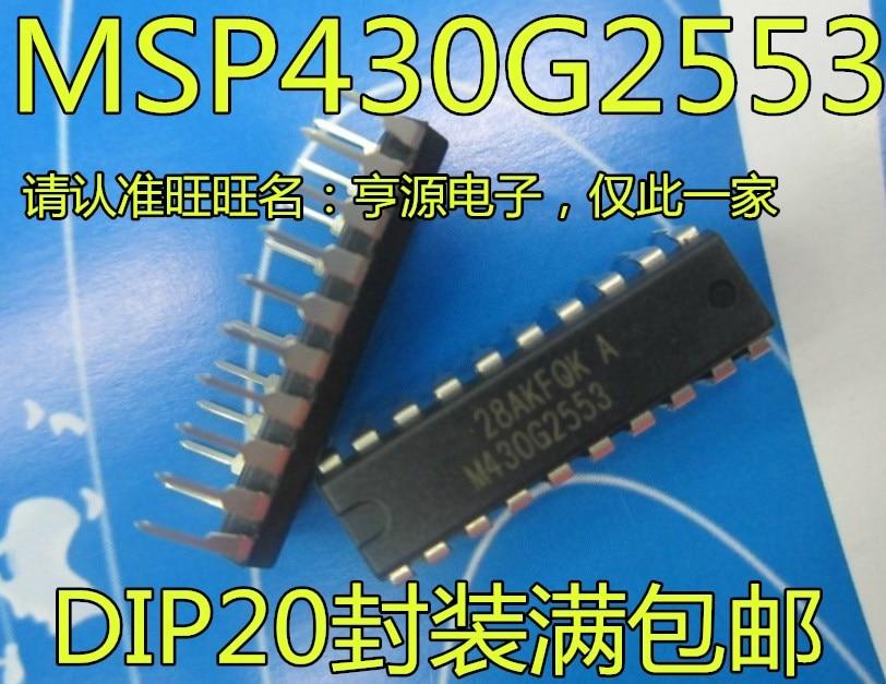 5 piezas MSP430G2553 M430G2553 MSP430G2553IN20 DIP20