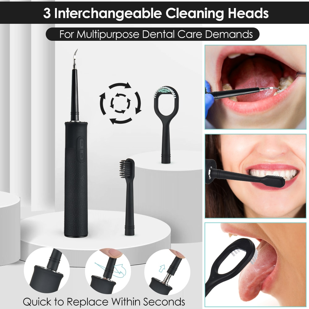 Home Oral Dental Cleaner Set Sonic Dental Scaler Electric High Frequency Vibration Tooth Calculus Remover Irrigator for Teeth enlarge
