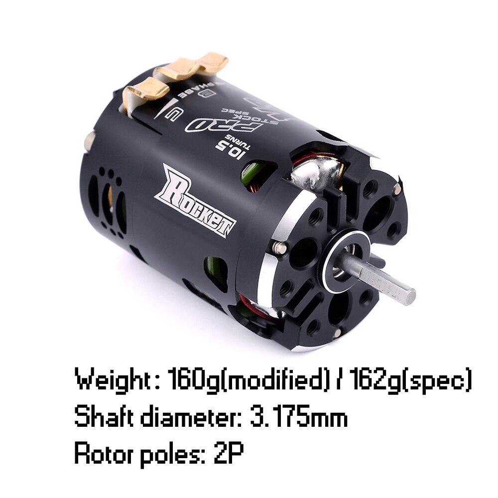 SURPASSHOBBY Rocket 540 V3 Pro 10.5T 13.5T 17.5T 21.5T 25.5T Sensored Brushless Motor for Spec Stock Competition 1/10 1/12 F1 enlarge