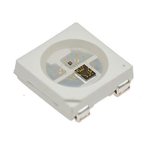 WS2812B WS2812 IC en Chip LED SMD 100 RGB para la pantalla de visualización de la tira 5V direccionable individualmente, 5050 pc