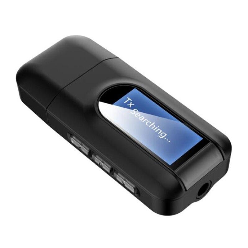RT11 Adaptador inalámbrico de Bluetooth pantalla LCD USB 2 In1 recibidor estéreo...