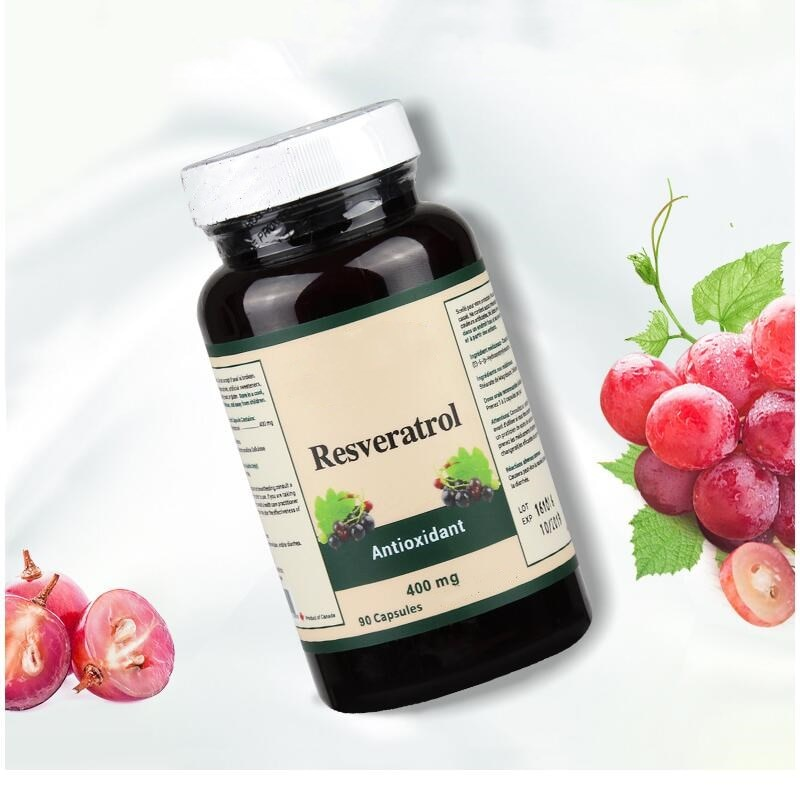 تبييض طبيعي مضاد للأكسدة يقلل من الخطوط الدقيقة ريسفيراترول بذور العنب النبيذ الأحمر جوهر