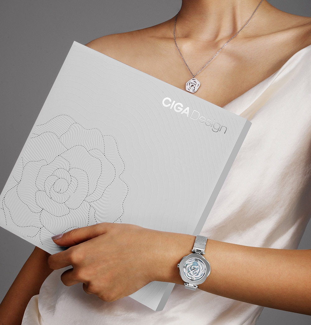 CIGA DESIGN Watch Denmark Rose Women Automatic Mechanical Or Quartz Wristwatch Stainless Steel Case Japan Movement Timepiece enlarge