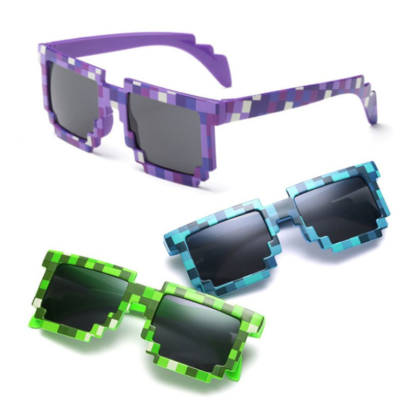 5 Color Fashion Sunglasses Kids Cos Play Action Game Toy Minecrafter Square Glasses Toys for Childre