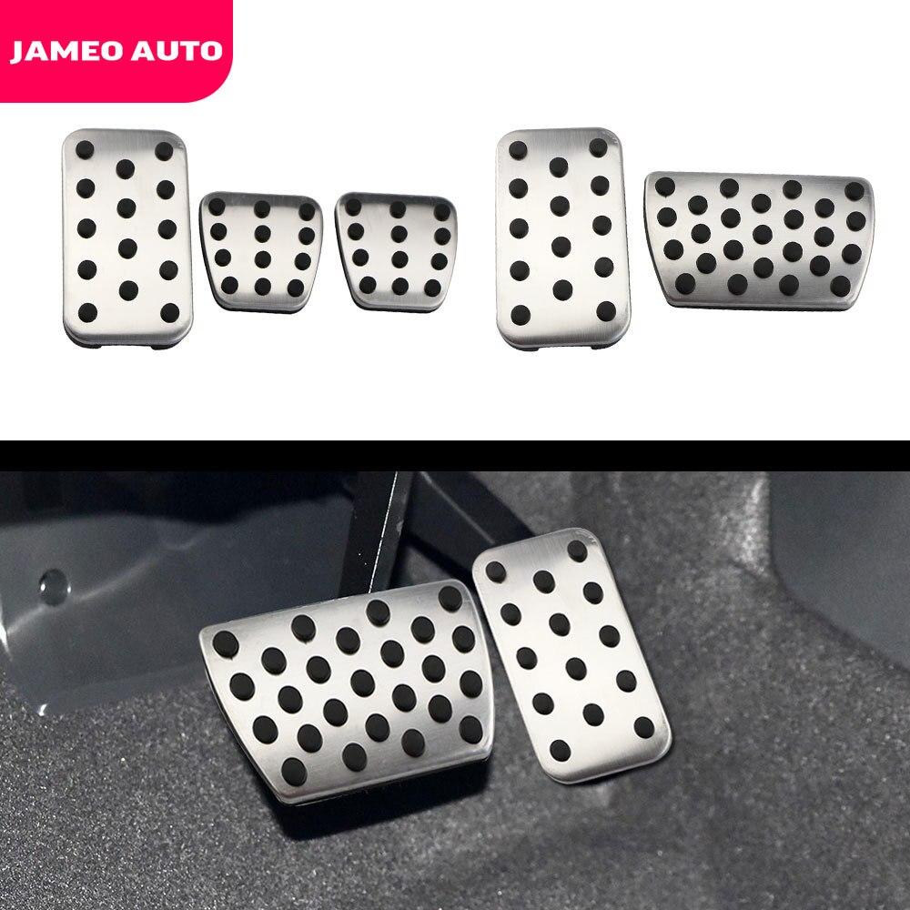 Jameo Auto Edelstahl AT MT Auto Pedale Auto Pedal Abdeckung Fit für Honda Civic 2016 + CRV CR-V 2012 + Jade 2013 + Zubehör