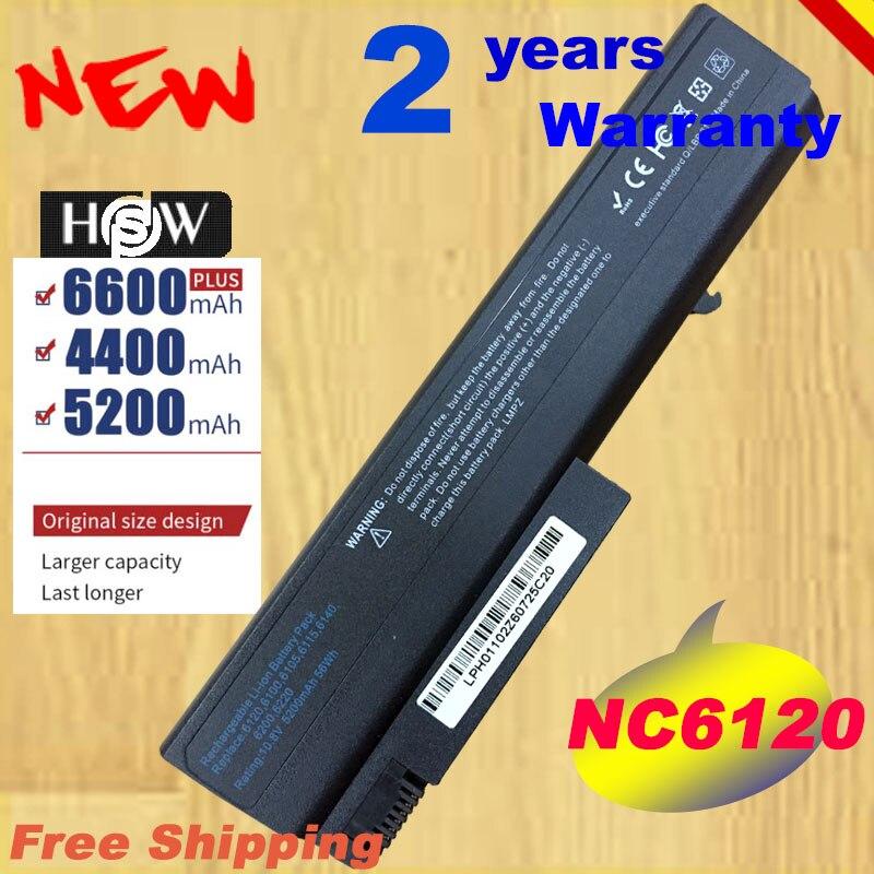 HSW batería del ordenador portátil para HP Compaq 6910p 6510b 6515b 6710b 6710 6715b 6715 NC6100 NC6105 NC6110 NC6115 portátil envío rápido