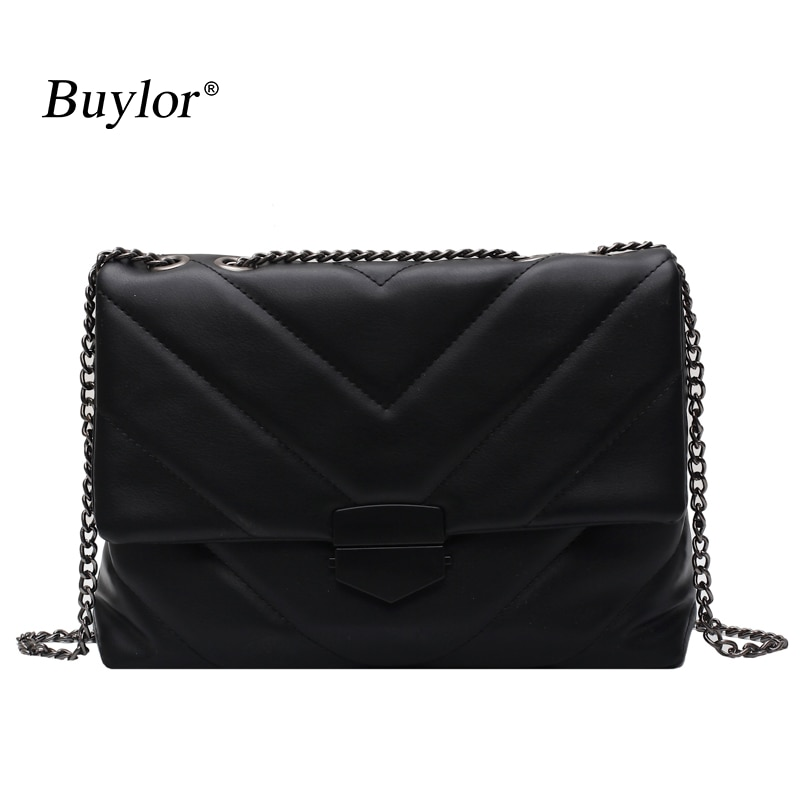 Buylor Women Shoulder Bag Designer Thread Embroidery Crossbody Bags Vintage Chain  Messenger Bag Retro Trend Totes Handbags