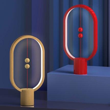Горячая Прямая поставка USB Перезаряжаемый Hengpro баланс светодиодный настольный светильник эллипс Магнитный Средний воздушный переключател...