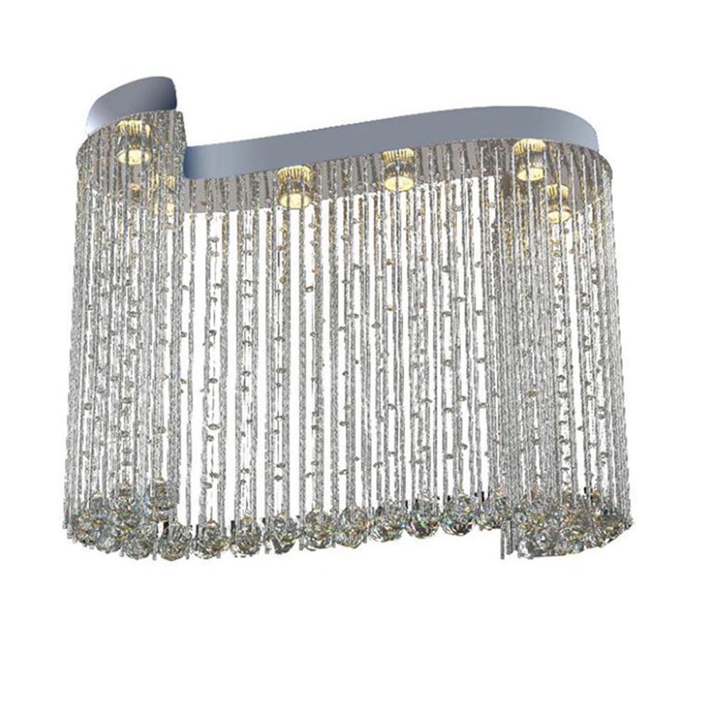 L80 * W30 * H60cm candelabro de cristal moderno K9 luz de techo de gota de lluvia para sala de estar Hotel pasillo camino de entrada escaleras