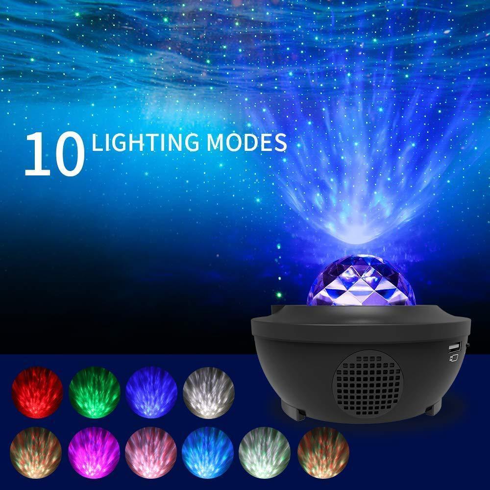 Светодиод красочный звездное небо проектор голубые зубы USB голос управление музыка плеер светодиод свет романтика проекция лампа день рождения подарок