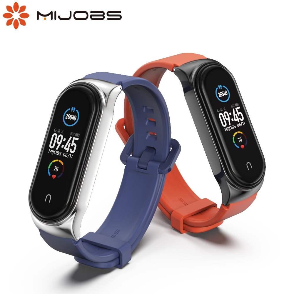 4 chigu double color accessories pulseira miband 2 strap replacement silicone wriststrap for m44258 181018 jia Strap for Xiaomi Mi Band 5 4 3 Silicone Bracelet for Mi Band 4 Strap Correa Miband 5 Wristbands Pulseira Replacement Accessories