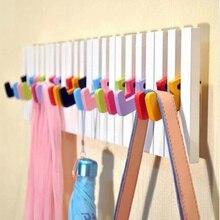 Moderne Klavier form dekorative wand haken kleiderbügel für kleidung tasten mantel kleidung holz wand regal home decor 50cm x 15cm