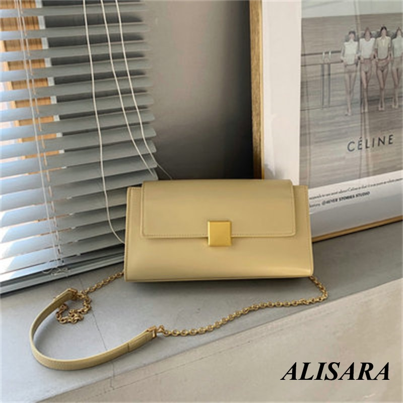 2021 small square bag soft bag solid color horizontal square Korean car stitching leather handbag trend
