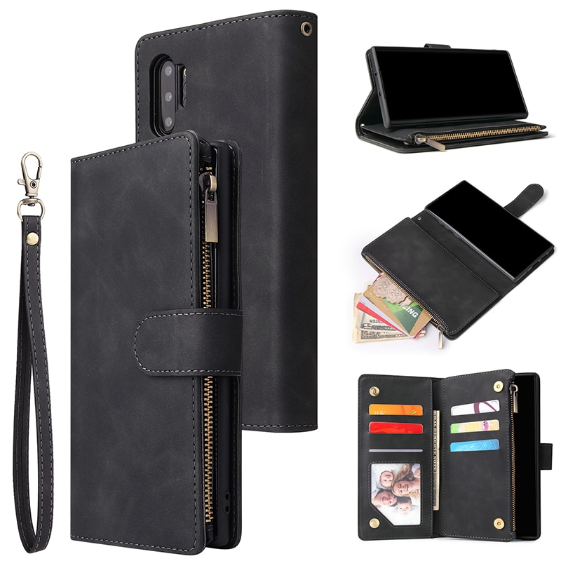 Кожаный чехол-кошелек на молнии для Samsung Galaxy S20 Ultra S10 Plus S9 S8 S10e Note 9 10 Plus A50 A70, откидной Магнитный чехол-книжка
