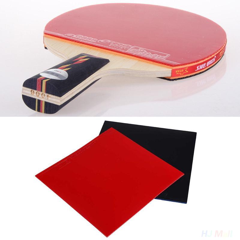 2 uds. Raqueta de tenis de mesa mejorada Pips en goma de pingpong esponja Rojo Negro ligero de Ping Pong Paddle Bat con buen Control
