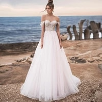 eightree sweetheart a line wedding dresses lace beading off shoulder bride dress backless wedding gowns plus size robe de mairee
