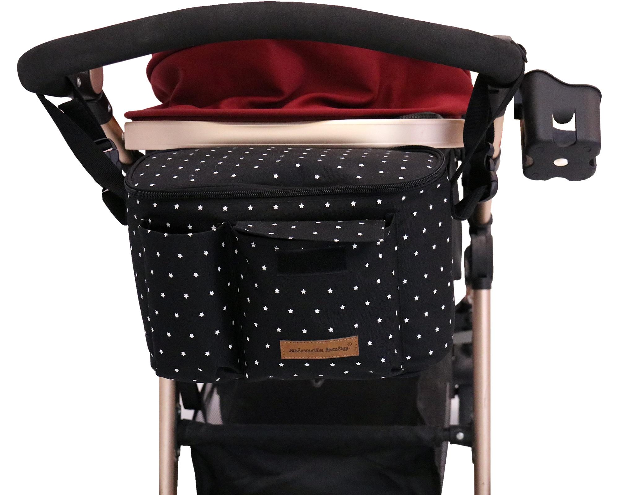 Baby Stroller Organizer Nappy Bag Hook Hanging Mummy Carriage Waterproof Bottle Bag Handbag Pram Cart Organizer Diaper Bag