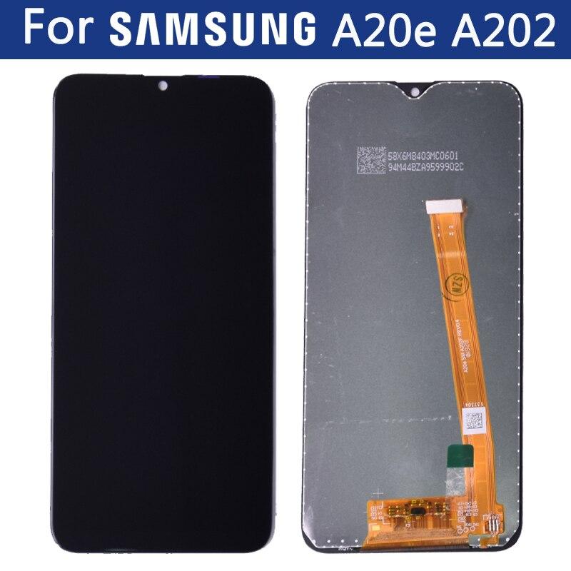 Para Samsung Galaxy A20e LCD pantalla táctil digitalizador montaje A202 A202F reemplazar con marco sin marco