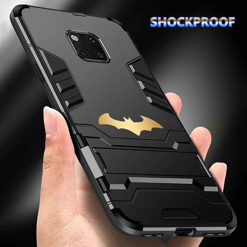 Funda armadura resistente a los golpes para Huawei Y6 Y7 P Smart Mate 20X30 P20 Lite Honor Note 10 V20 Nova 5 5i 4E 3 Kickstand cubierta
